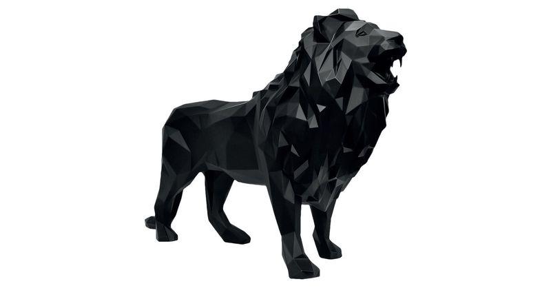 richard orlinski lion noir mat oeuvres de la place de march. Black Bedroom Furniture Sets. Home Design Ideas
