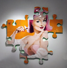 KEYMI - Painting - Mérédith - Série Pin-up puzzle