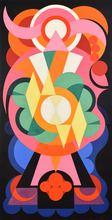 Auguste HERBIN - Peinture - Composition sur les Noms Communs: Ange, Lion, Fauvette