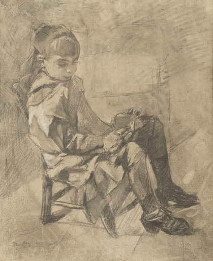 Henri DE TOULOUSE-LAUTREC - Drawing-Watercolor - Mademoiselle Béatrix Tapié de Céleyran