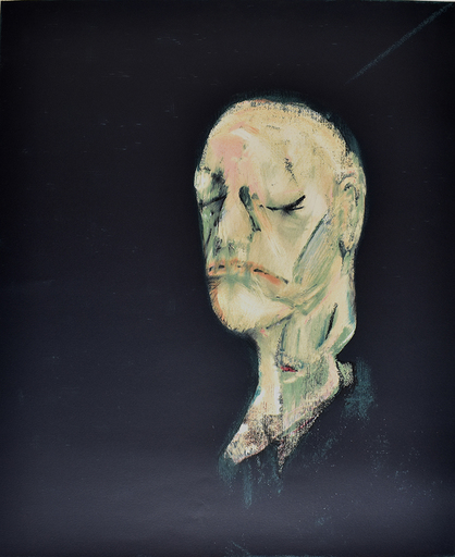 Francis BACON - Stampa-Multiplo - Study of a Portrait II, after the Life Mask of William Blake