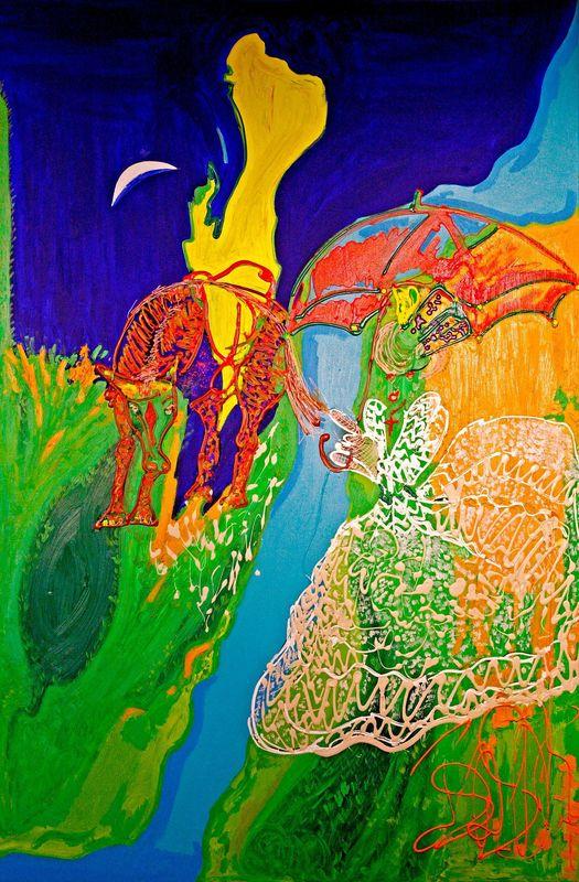 Isa SATOR - Painting - La Mariée    (Cat N° 6761)