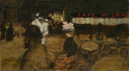 Pierre BONNARD - Peinture - Toulouse-Lautrec au café (La Terrasse)