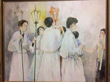 Jean JANSEM - Pintura - The Procession