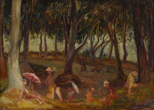 Emil KRCHA - Gemälde - Philosophers' Avenue - Grove of Sviatopolk in Kartuzy