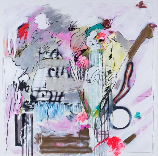 Rosario RIVERA BOND - Painting - Bachata Rosa