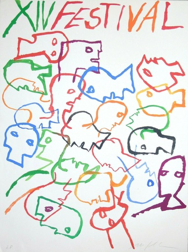 米莫·帕拉迪诺 - 版画 - Festival