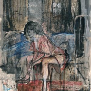 Zvi MILSHTEIN - Painting - Vue de la chambre