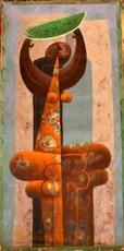 """Jorge VALLEJOS - Painting - """"Personaje Con Sandia"""""""