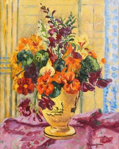 Henri MANGUIN - Painting - Capucines, vase jaune