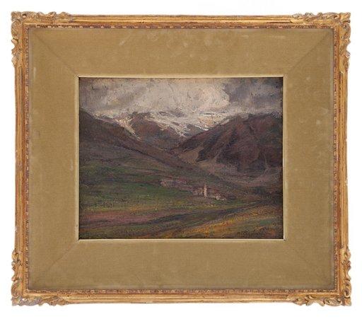 Andrea TAVERNIER - Painting - Paesaggio piemontese