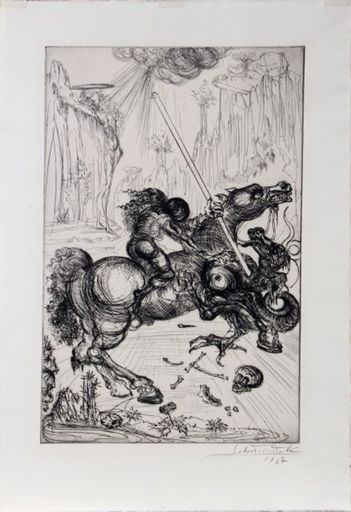 Salvador DALI - Stampa Multiplo - 1947 St. George and The Dragon