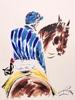 Lucien PEYTONG - Dessin-Aquarelle - Le cavalier