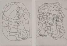 亨利•摩尔 - 版画 - Elephant Skull Pl. XIII