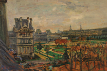 Arbit BLATAS - Painting - View of the Louvre