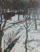 Alexander ALTMANN - Pintura - Snowy Undergrowth | Sous Bois Enneigé
