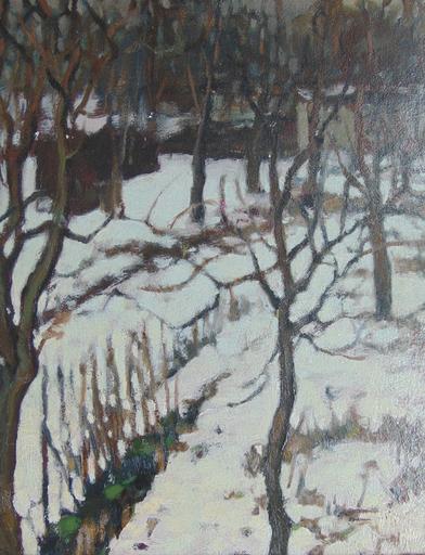 Alexander ALTMANN - 绘画 - Snowy Undergrowth | Sous Bois Enneigé