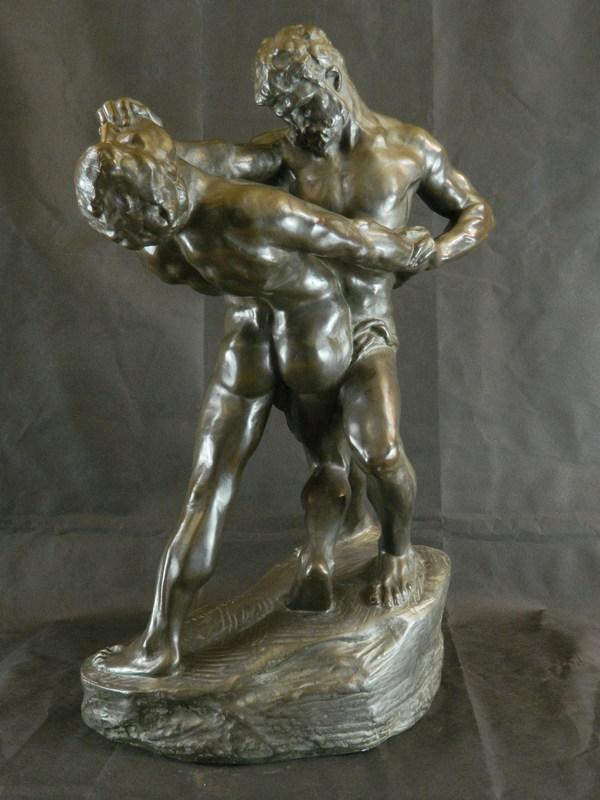Jef LAMBEAUX - Sculpture-Volume - Lutteurs