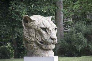 Patrick VILLAS - Sculpture-Volume - Tête de panthère monumental
