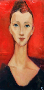 Levan URUSHADZE - Painting - Red portrait