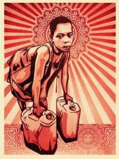 "Shepard FAIREY - Druckgrafik-Multiple - ""Yellow cans"""