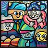 CHANOIR - Pittura - Chas B.Boys Qui Sourient