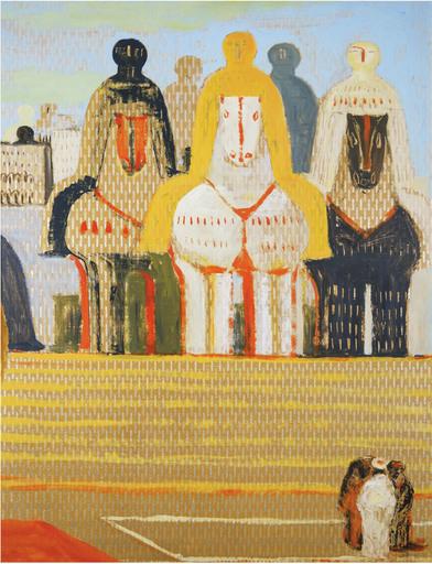 Salvatore FIUME - Pittura - Isola di statue