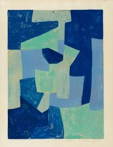 Serge POLIAKOFF - Stampa Multiplo - Bleue et verte