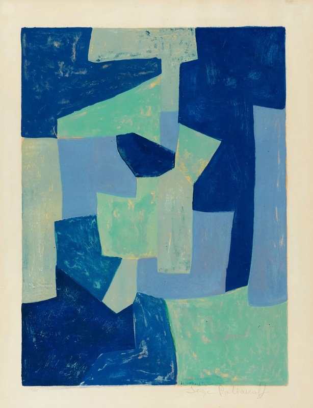 Serge POLIAKOFF - Estampe-Multiple - Bleue et verte