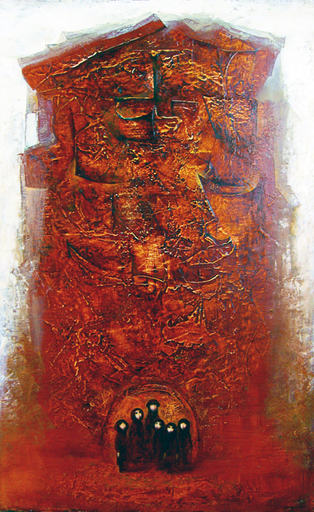 Amur KOCHISHVILI - Painting - Family and the city