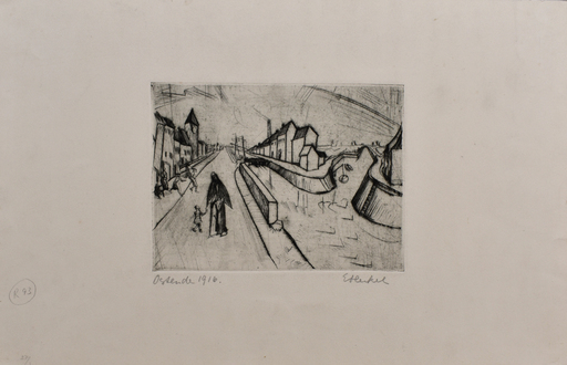 Erich HECKEL - Print-Multiple - Canal in Ostend | Kanal bei Ostende