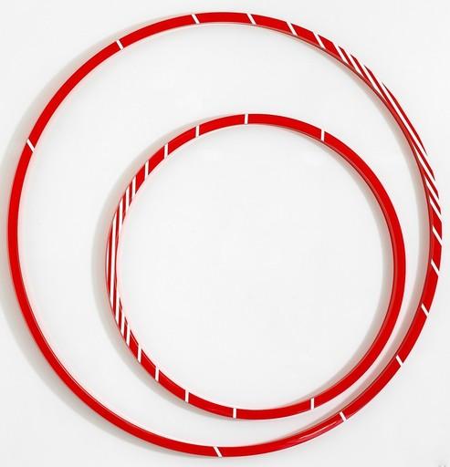 Gerhard DOEHLER - Sculpture-Volume - Cercle sans titre /blanc/rouge