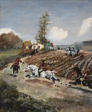 Henri DE TOULOUSE-LAUTREC - Pintura - Chasse à courre