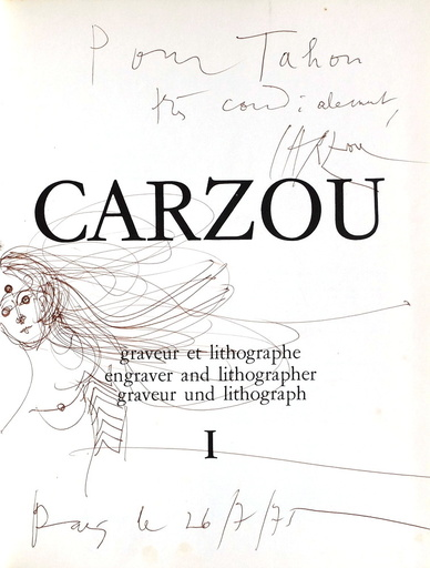 Jean CARZOU - Dibujo Acuarela - Nu