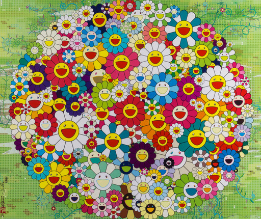 Takashi MURAKAMI - Print-Multiple - OPEN YOUR HANDS WIDE (VERSAILLES),