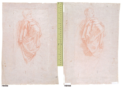 Baldassare FRANCESCHINI - Drawing-Watercolor - STUDY OF A DRAPED MALE FIGURE