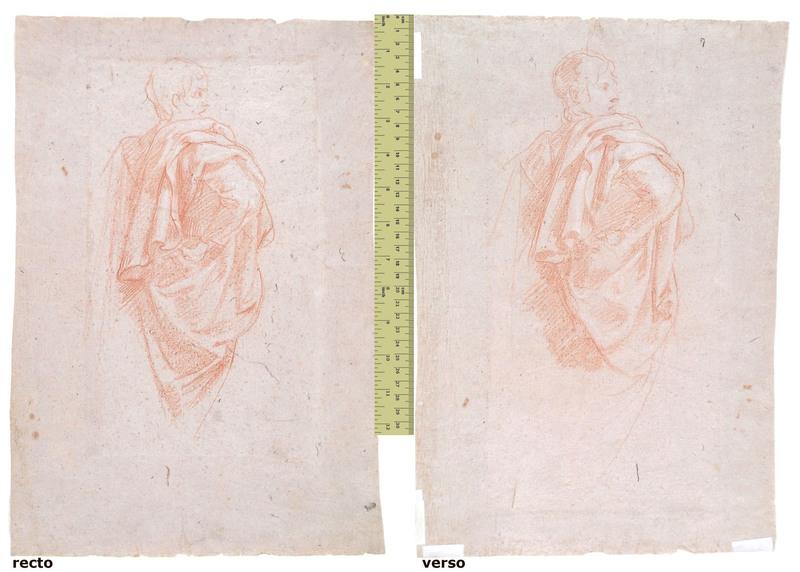 Baldassare FRANCESCHINI - Drawing-Watercolor - STUDY OF A DRAPED MALE FIGURE