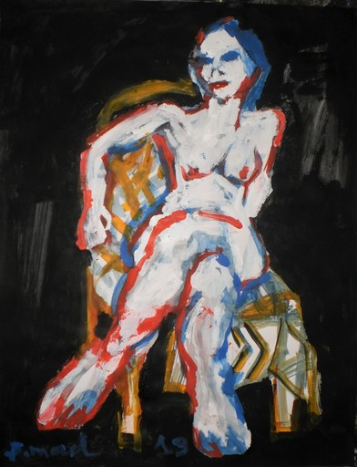 Bernard MOREL - Painting - FEMME