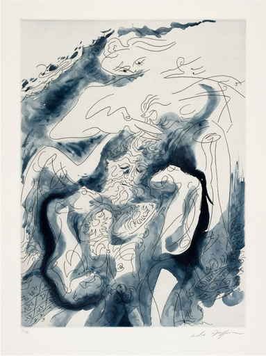 "安德烈•马松 - 版画 - Samson et Dalila des ""Amants Célèbres"""