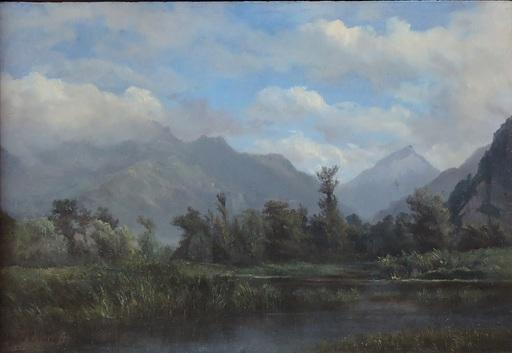 Alfred CHAVANNES - Gemälde - Canal du Rhône, les Grangettes