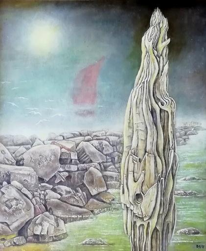 Erich GARGERLE - Gemälde - L'ultima barca