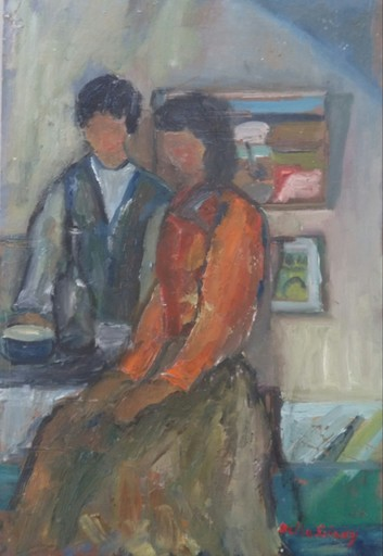 Bella SHAKY - 绘画 - Couple in an Interior