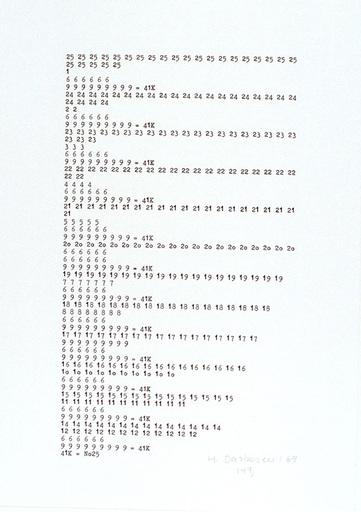 Hanne DARBOVEN - Grabado - Zahlentypographie