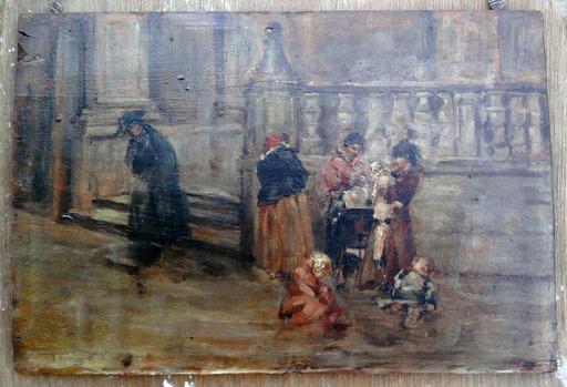 Guido MEINERI - Gemälde - La marchande de marrons 1896