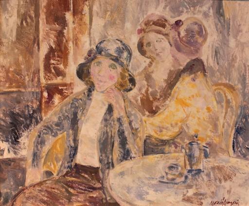 Josep Maria MORATO ARAGONES - Painting - En el café
