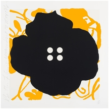 Donald SULTAN - Estampe-Multiple - Button Flower Yellow