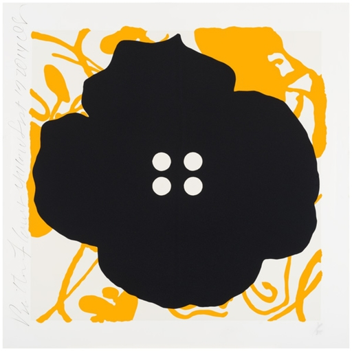 Donald SULTAN - Grabado - Button Flower Yellow