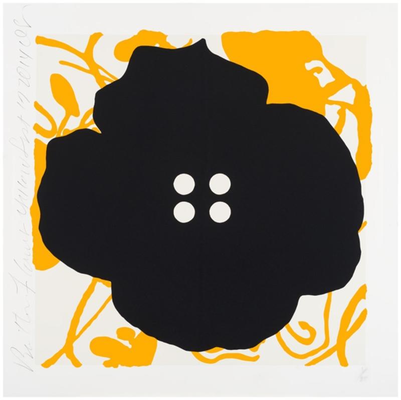 Donald SULTAN - Estampe-Multiple - Button Flower Yellow