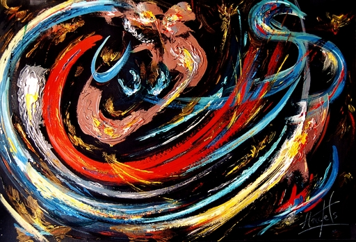 Didier ANGELS - Peinture - La Flambée