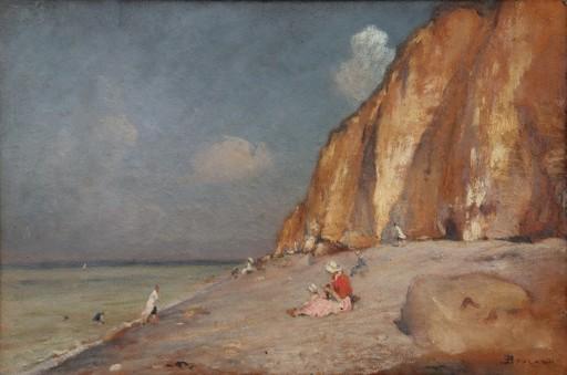 "Emile BOULARD - Pintura - ""BELLE JOURNEE A LA PLAGE EN NORMANDIE"""